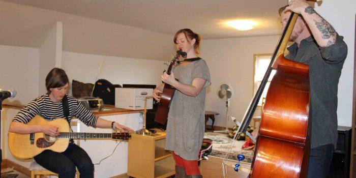 Colleen Raney at the KBFG Studio