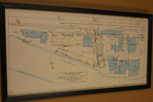 Blueprint layout of the Burke Industrial Center from 1968